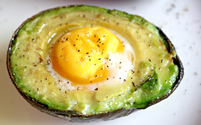A perfect healthy breakfast, Baked Egg in Avocado