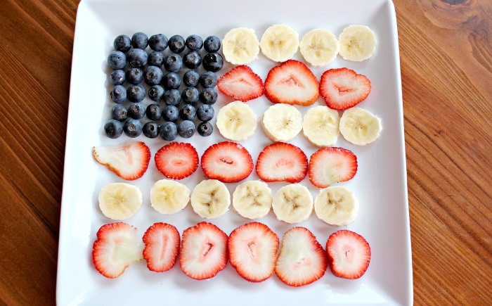 fruit american flag
