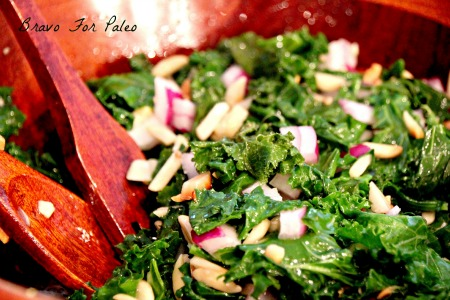 This Kale Salad Recipe is perfect with any entree. It is a light and tasty side dish.