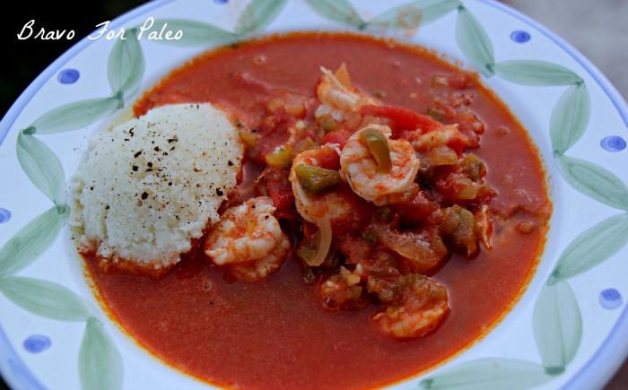 Paleo Shrimp Creole with Riced Cauliflower