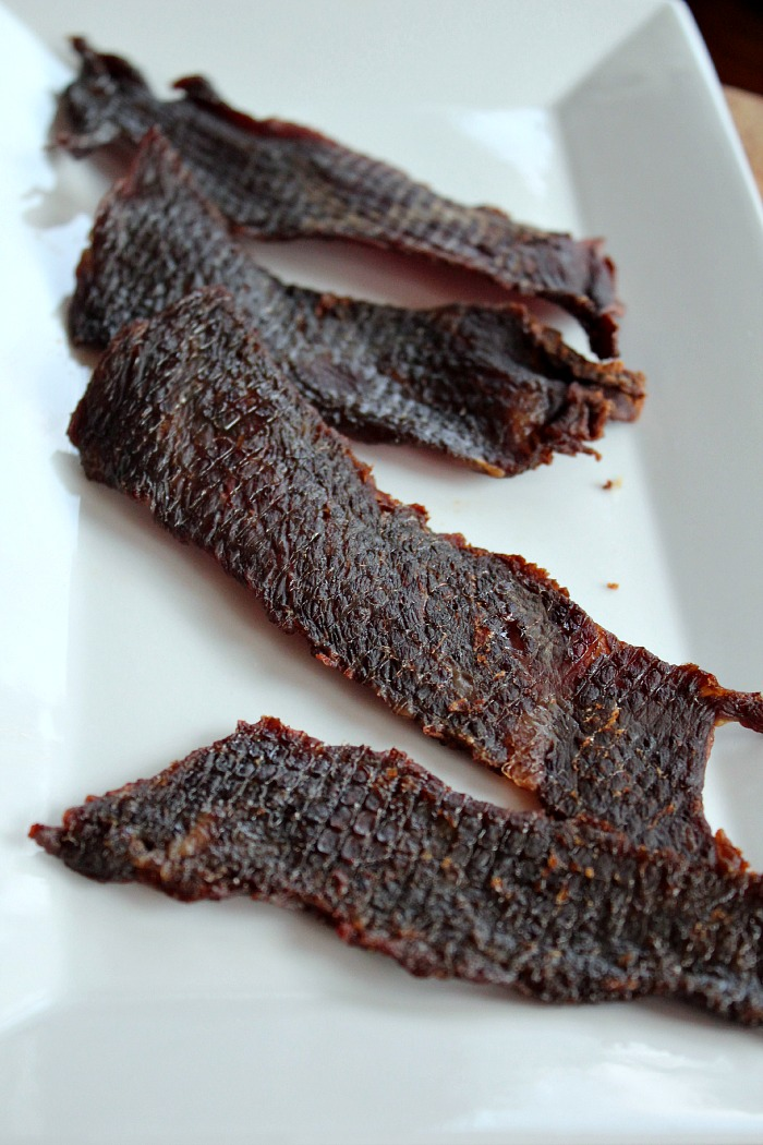 ... Beef Jerky! This is a healthy version of your gas station favorite