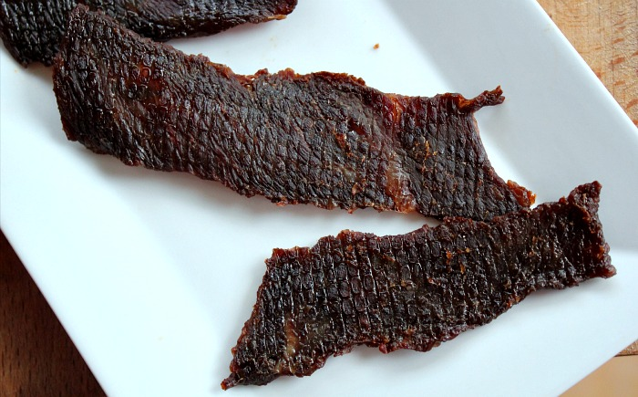 When I hear jerky I think of gas station snacks with an everlasting shelf life. This is not the case for my Paleo BBQ Beef Jerky! This is a healthy version of your gas station favorite.