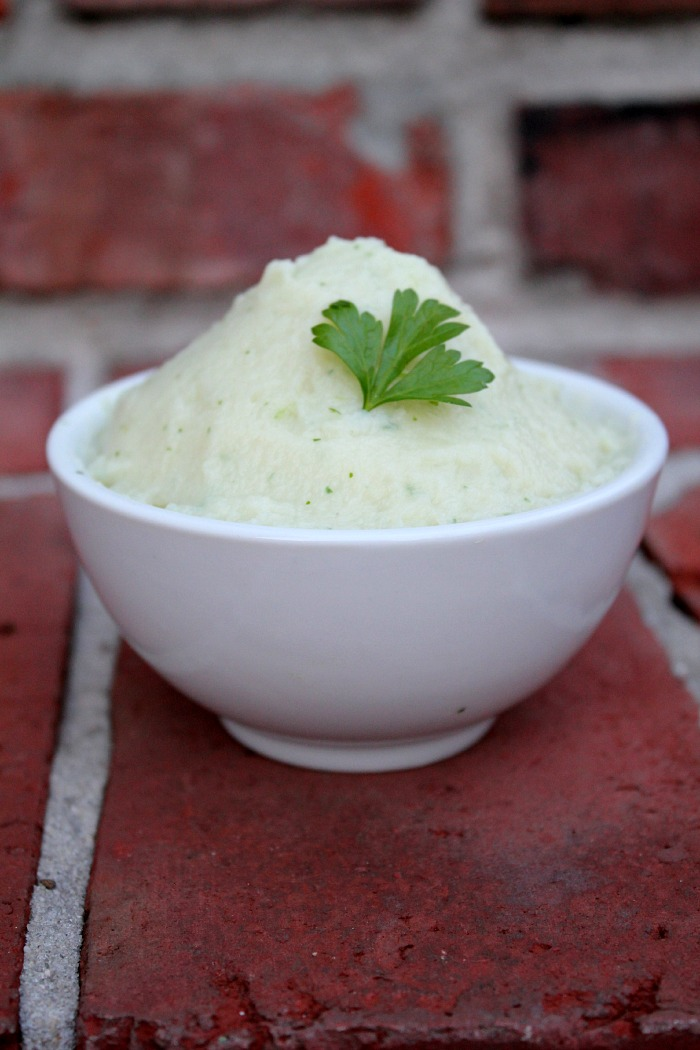 herb paleo cauliflower mash 2