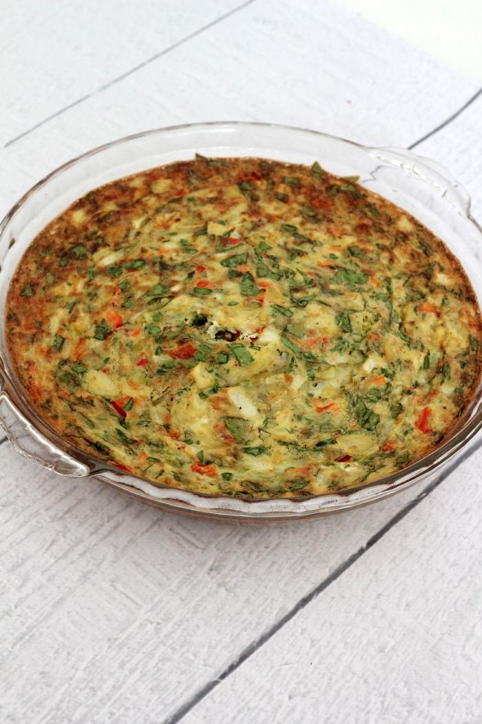 spinach and artichoke quiche