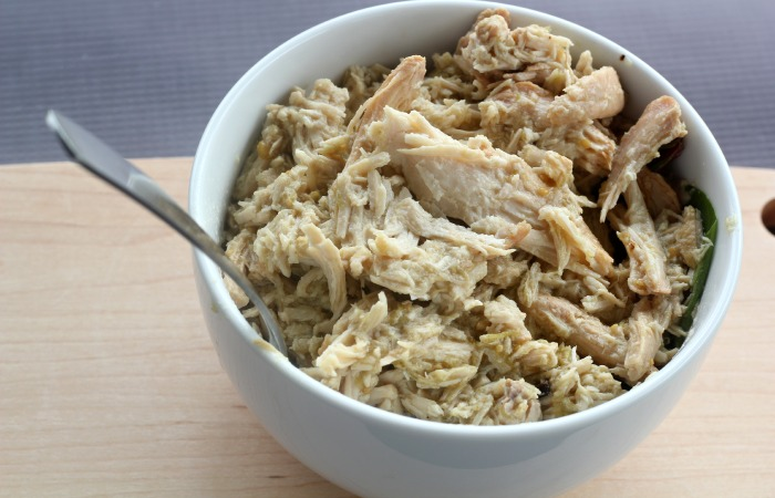 This Paleo Crockpot Chicken Recipe can be prepped in 5 minutes and is made with only 2 ingredients!