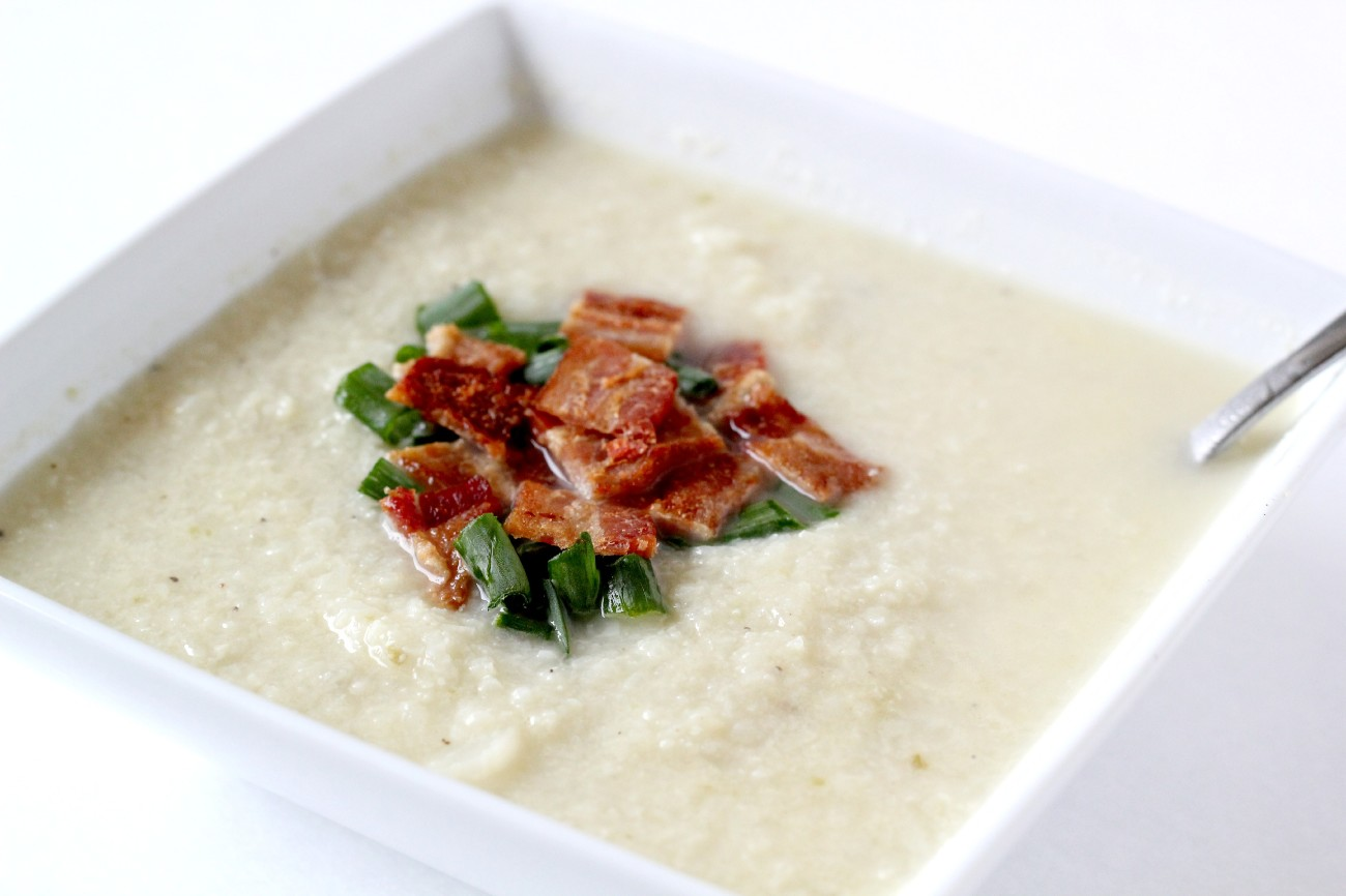 This Paleo Cauliflower Soup is perfect for the cold and so delicious.