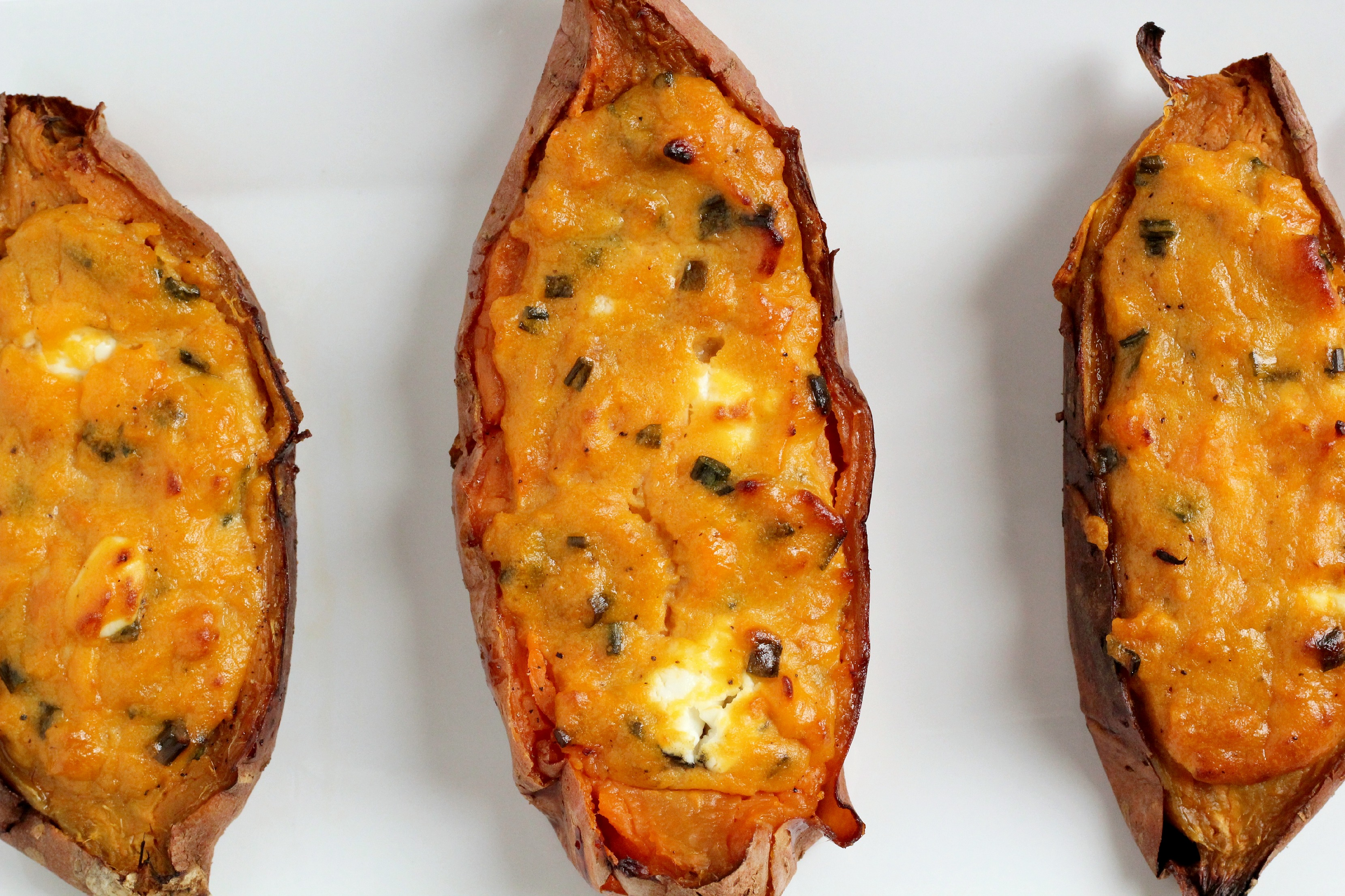 Twice baked sweet potatoes, you say? Yes! And this recipe is so good.