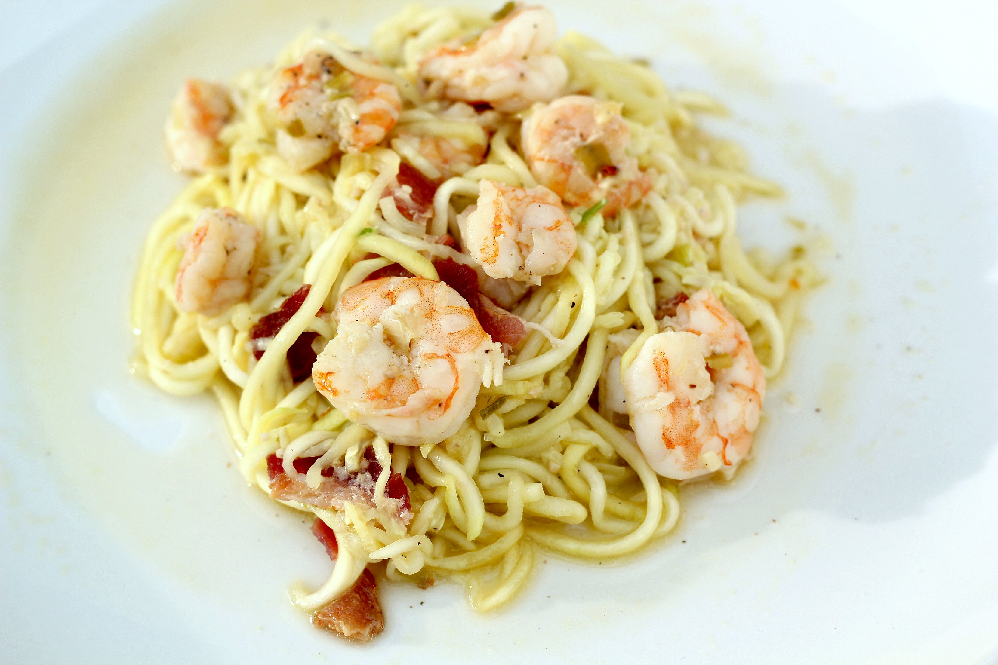 spicy maple bacon wrapped having pasta with shrimp shrimp and bacon ...