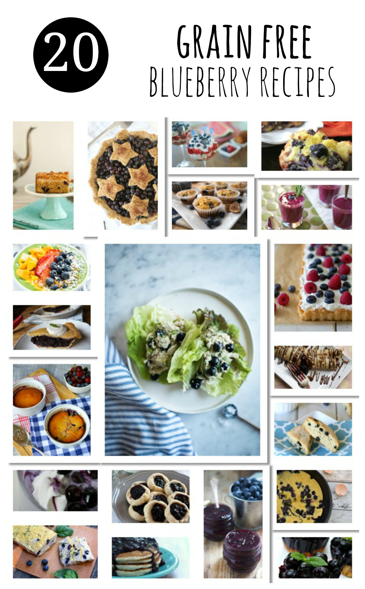 20 Grain Free Blueberry Recipes from the best Paleo bloggers.
