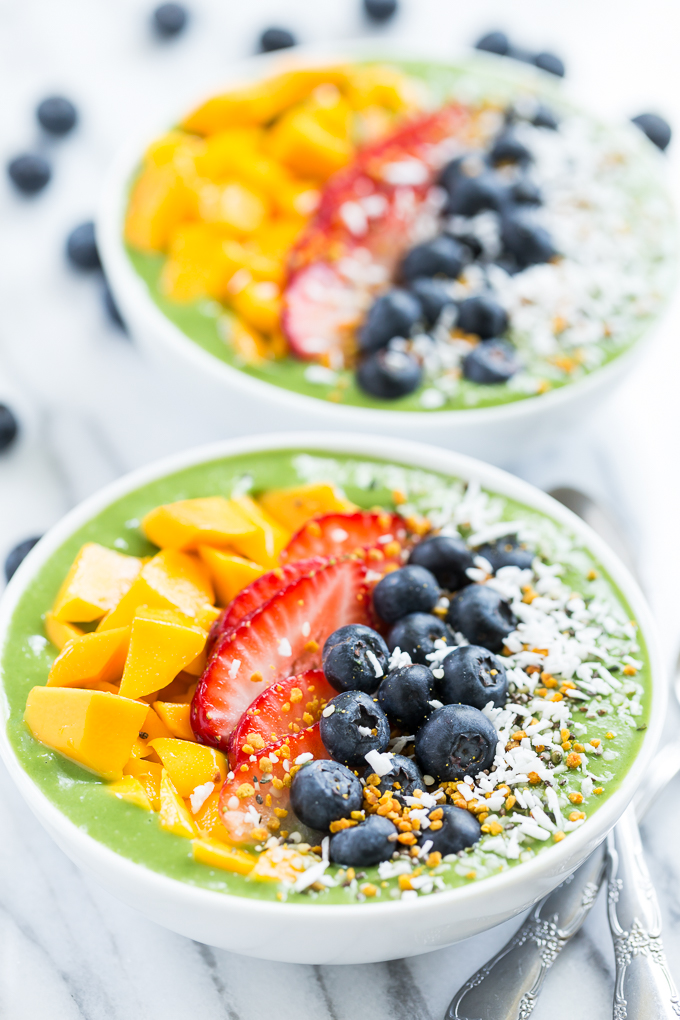 Green Smoothie Breakfast Bowls