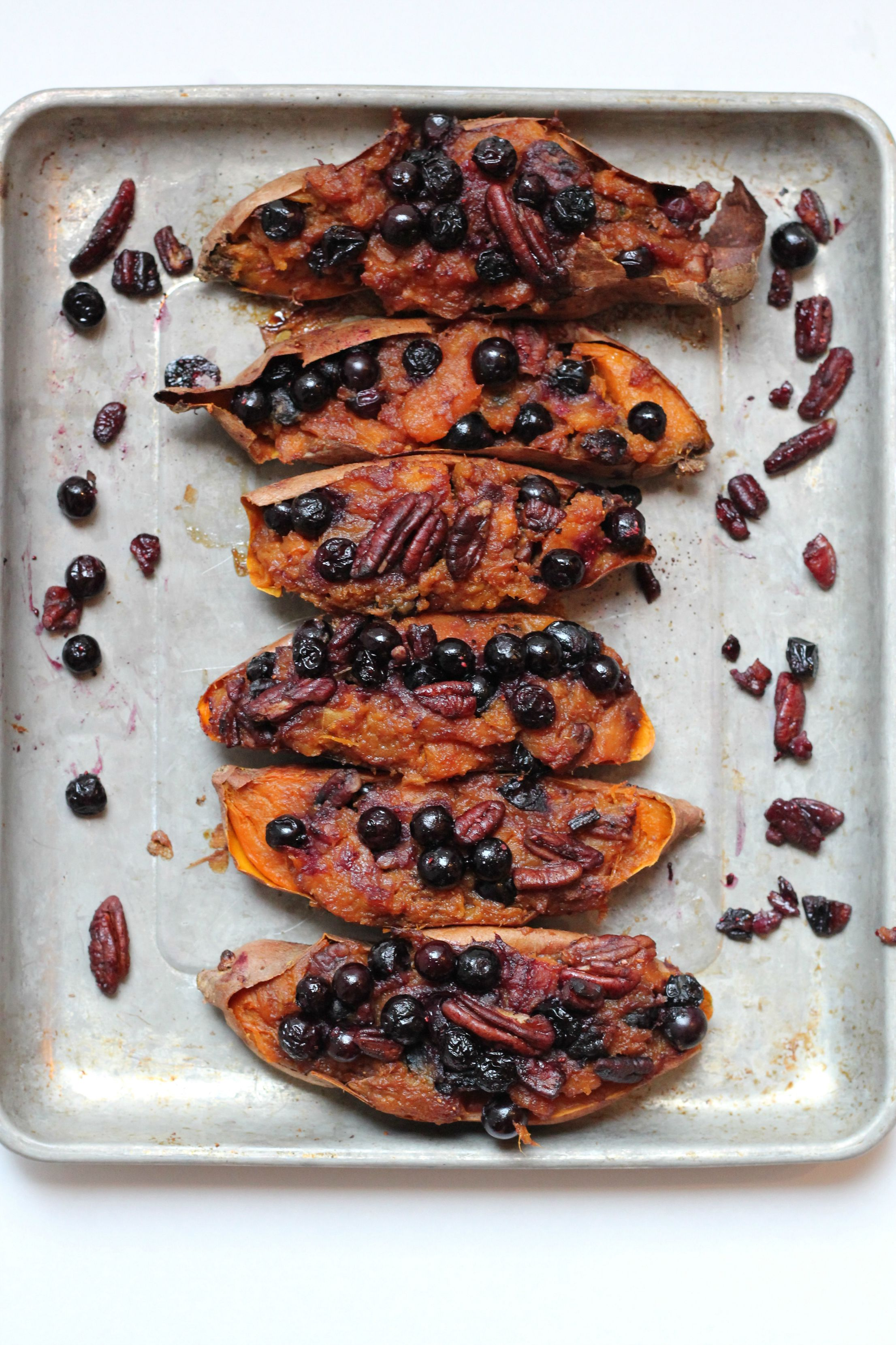 This is one recipe you will make over and over again. Twice Baked Sweet Potatoes with Blueberries and Pecans.