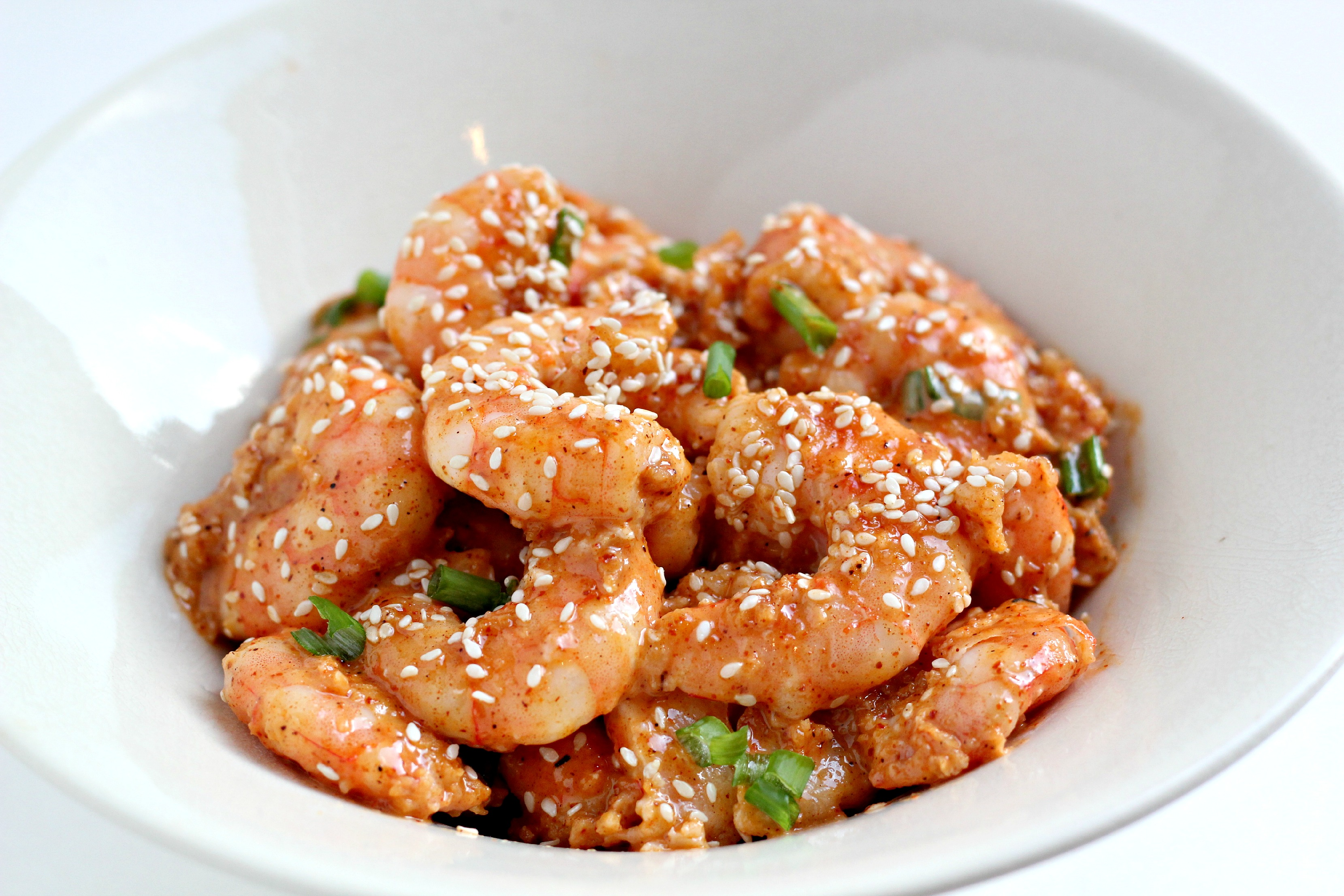 This Paleo Bam Bam Shrimp can be made in 30 minutes and is so delicious!