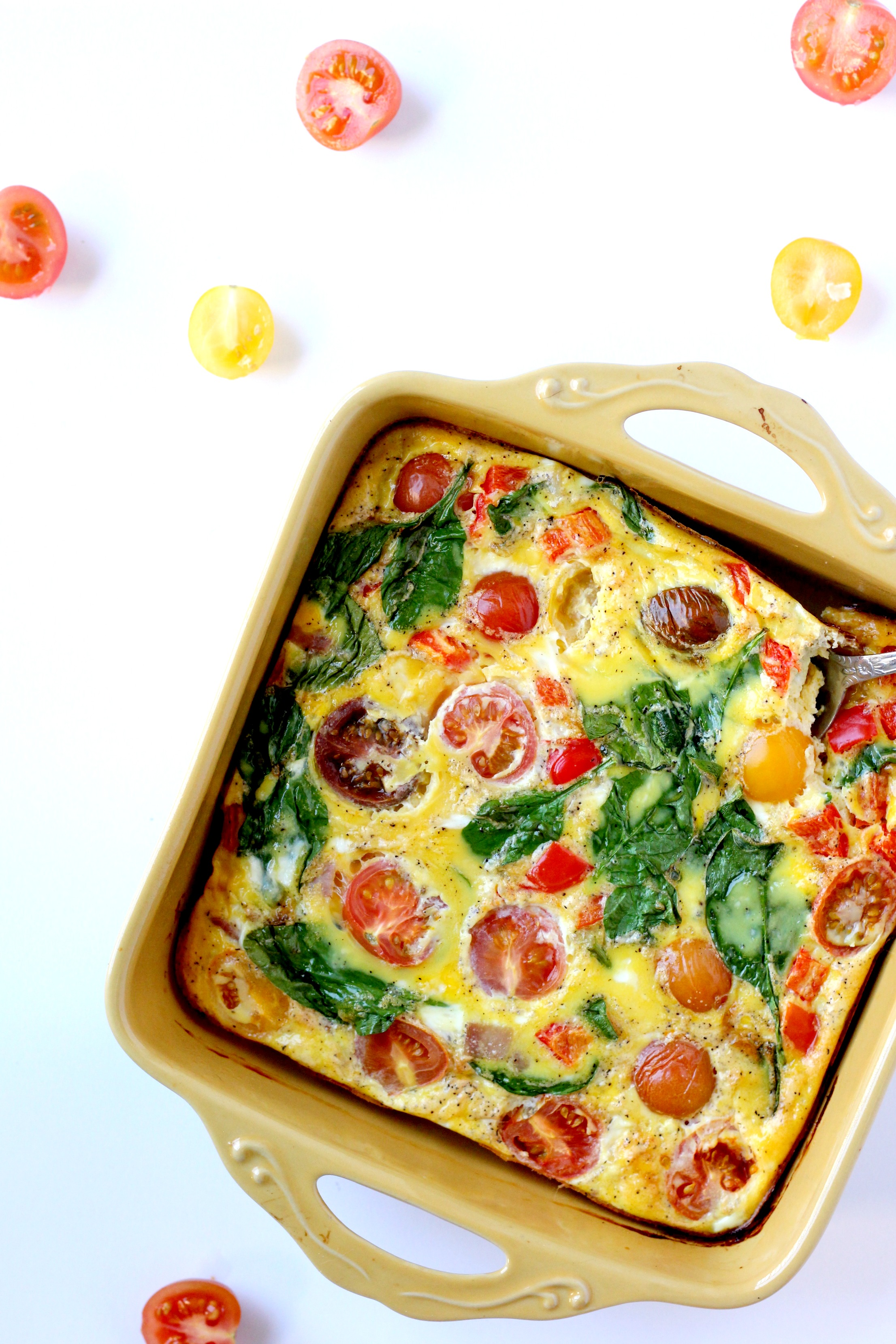 This Dairy Free Frittata is the easiest breakfast and ideal for meal prepping!