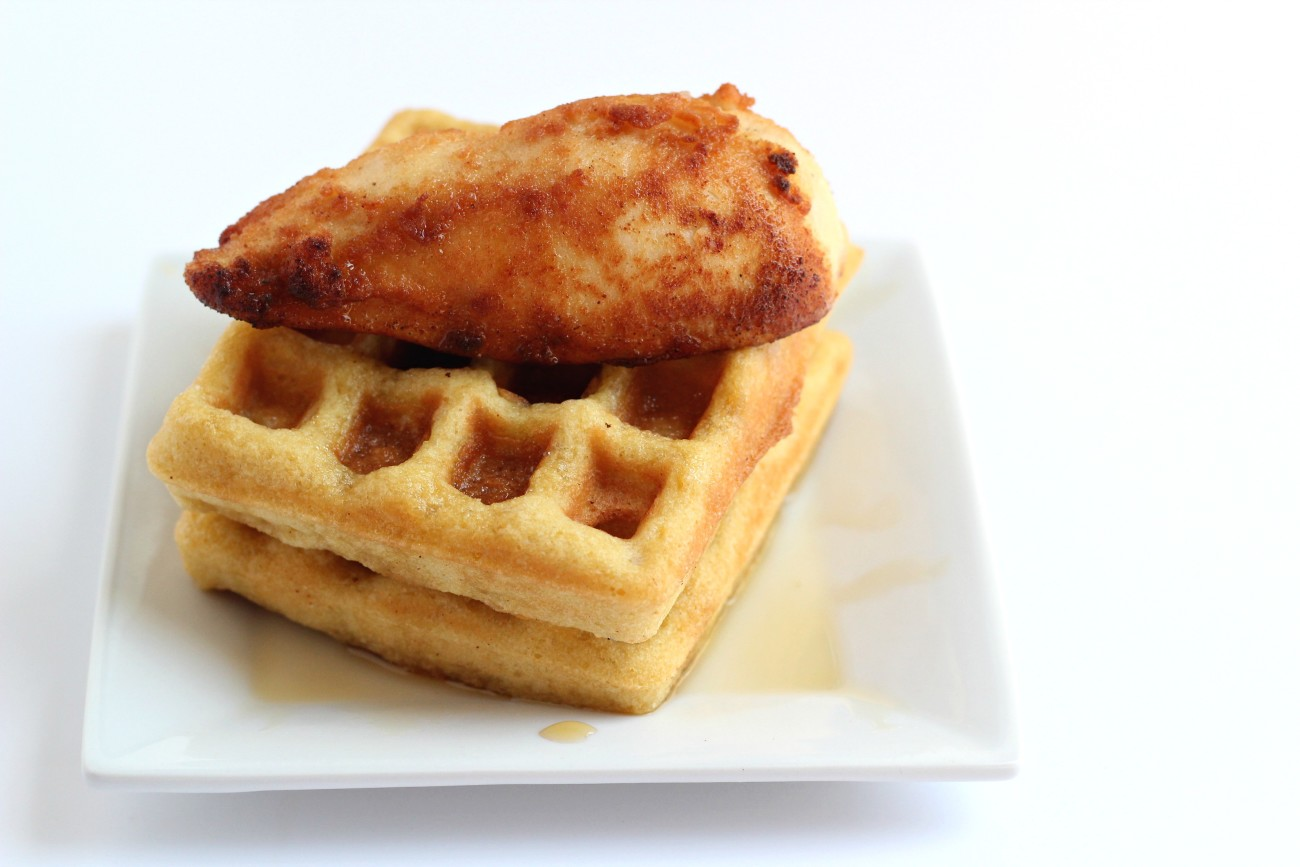 This Grain Free Chicken and Waffles Recipe is amazing! Perfect for a weekend morning breakfast.