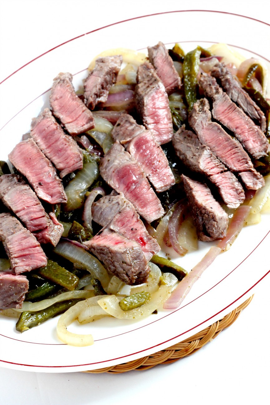 Steak with Poblano Chiles is like a fajita dish but better. Put these in tacos, on nachos, or just as is! Simple but delicious recipe.