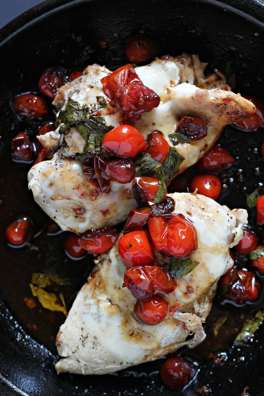 This Paleo Balsamic Chicken takes less than 20 minutes to make and is absolutely delicious. It is a staple recipe in our house!