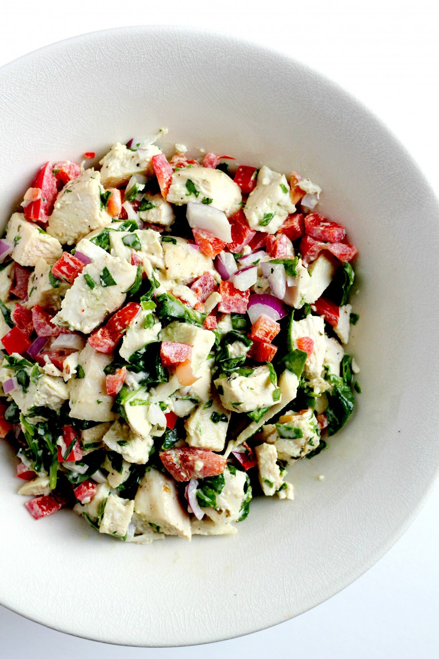This Healthy Chicken salad is paleo, whole30-friendly, and gluten free! It is a great meal to make to pack for lunch.